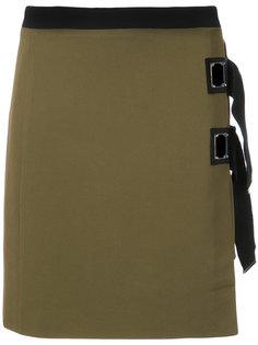 юбка с контрастными лямками David Koma