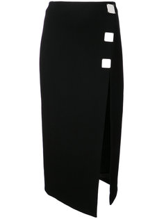 юбка с шлицей и металлической отделкой David Koma