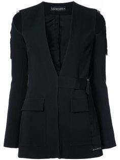пиджак асимметричного кроя David Koma