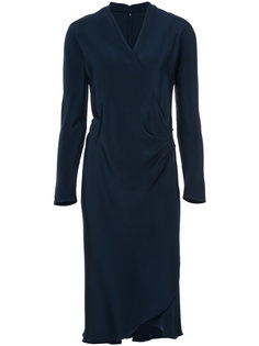long-sleeved wrap dress Peter Cohen