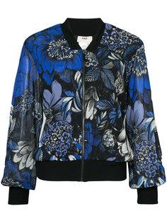 куртка-бомбер с цветочным принтом Fuzzi