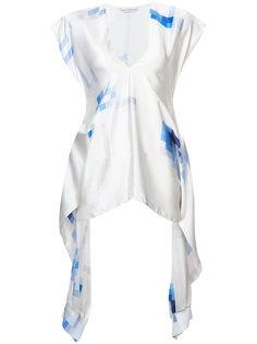 блузка с абстрактным принтом Paco Rabanne