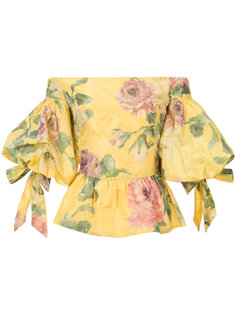 floral print off-shoulder blouse Marchesa