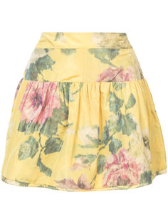 floral print mini skirt Marchesa