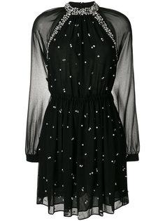 декорированное платье с прозрачными рукавами Michael Michael Kors