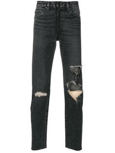 брюки с рваными деталями Off-White
