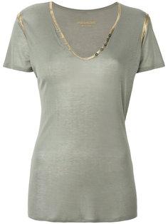 футболка с эффектом металлик  Zadig & Voltaire