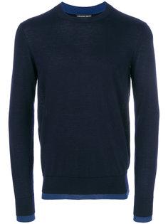 свитер с контрастным подолом Alexander McQueen