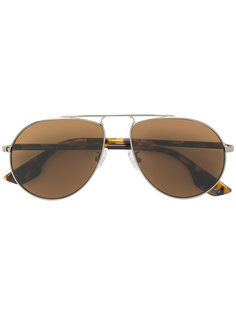 солнцезащитные очки-авиаторы в черепаховой оправе  Mcq By Alexander Mcqueen Eyewear
