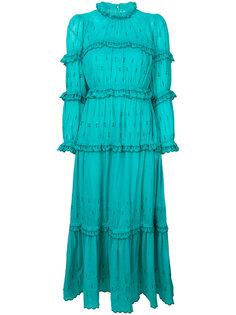 платье с вышивкой и оборкой  Isabel Marant Étoile