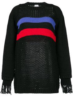свитер с бахромой на манжетах  Akep