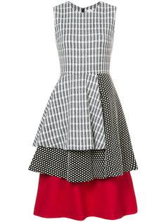 многослойное платье с мелким узором Novis