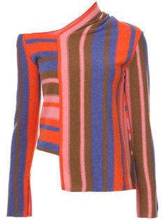 полосатый асимметричный свитер Peter Pilotto