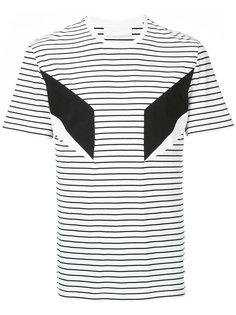 футболка в полоску с аппликацией Neil Barrett