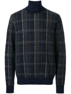 свитер в клетку с высокой горловиной Jeckerson
