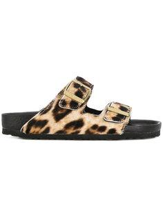сандалии с животным принтом Birkenstock