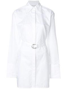 удлиненная рубашка в тонкую полоску Helmut Lang