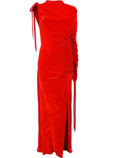 длинное платье с глубоким разрезом сбоку Monse