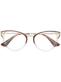 cat eye-frame glasses Prada Eyewear