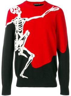 свитер Dancing Skeleton Alexander McQueen
