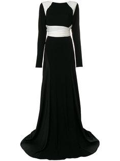 расклешенное платье с длинными рукавами  Vionnet