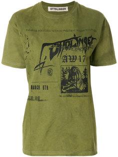 футболка с логотипом и выцветшим эффектом Ottolinger