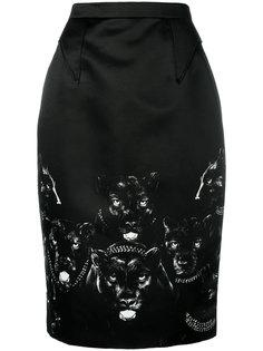 юбка-карандаш с принтом  Givenchy