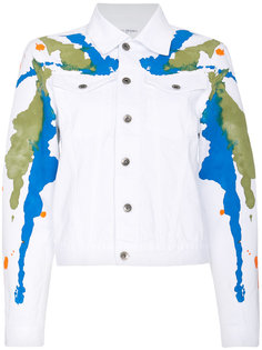 джинсовая куртка с пятнами краски Mirco Gaspari