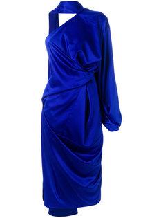 присборенное платье на одно плечо Solace London