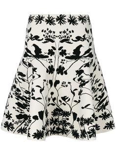 юбка с лесным принтом Alexander McQueen