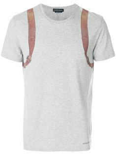 футболка с принтом подтяжек Alexander McQueen