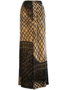 брюки палаццо с узором Uma Wang
