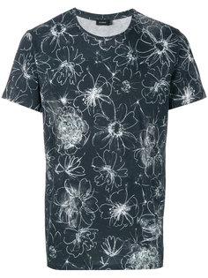 футболка с цветочным принтом  Jil Sander