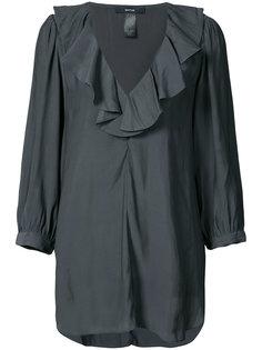 блузка с V-образным вырезом и рюшами Smythe