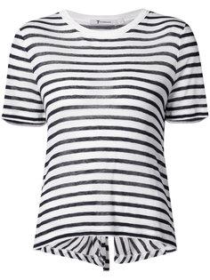 трикотажная полосатая футболка  T By Alexander Wang