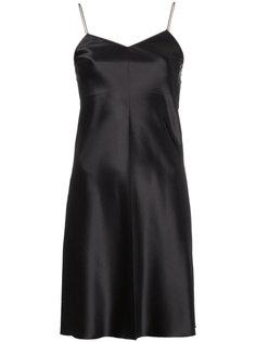 платье с металлической отделкой Helmut Lang