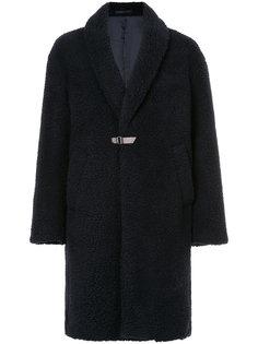 пальто миди из овчины Cityshop