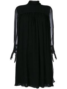 платье шифт с высокой горловиной Alexander McQueen