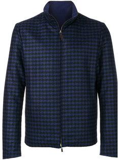 куртка в клетку на молнии Canali