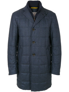 однобортное стеганое пальто Canali
