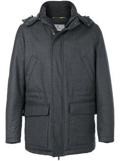 пальто с капюшоном Canali