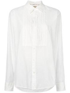 рубашка с плиссировкой спереди  Burberry