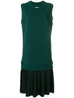 платье-свитер с плиссированной юбкой Mm6 Maison Margiela