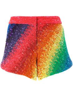 шорты Rainbow в полоску Manish Arora