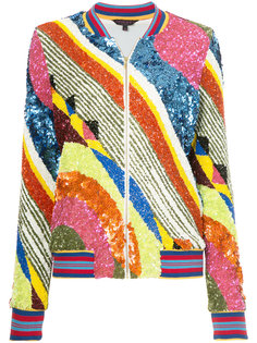 куртка-бомбер с узором Manish Arora
