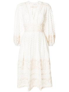 приталенное платье с V-образным вырезом Zimmermann