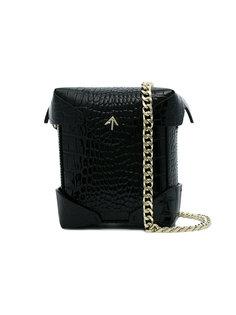 сумка Pristine с эффектом крокодиловой кожи Manu Atelier