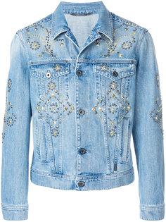 джинсовая куртка с заклепками Versace