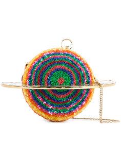 клатч Planet с бархатным кольцом и пайетками Manish Arora