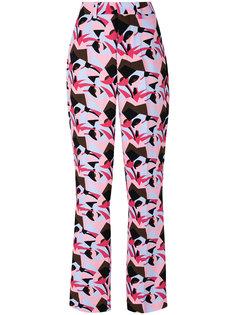 брюки с абстрактным принтом Marni